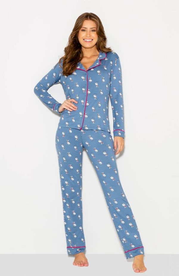pijama manga longa ab t bulldog frances