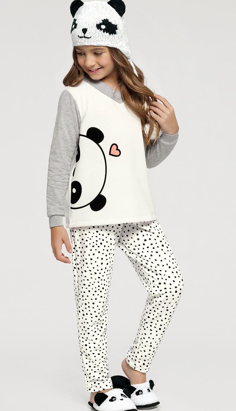 pijama manga longa infantil rot poa