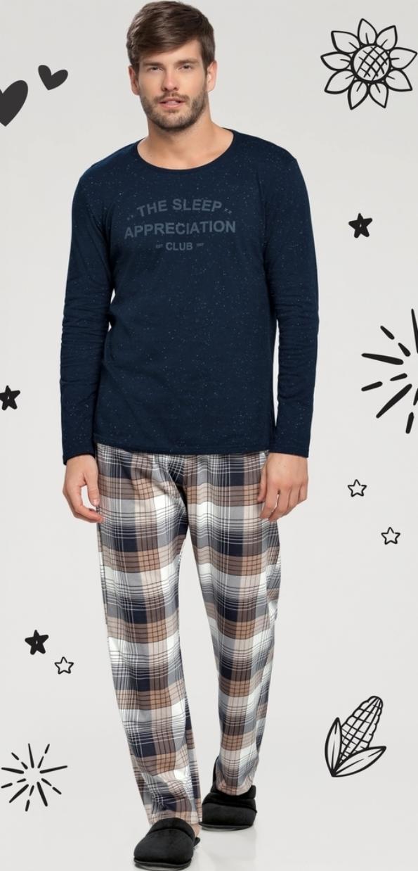 pijama manga longa lua nova rot xadrez