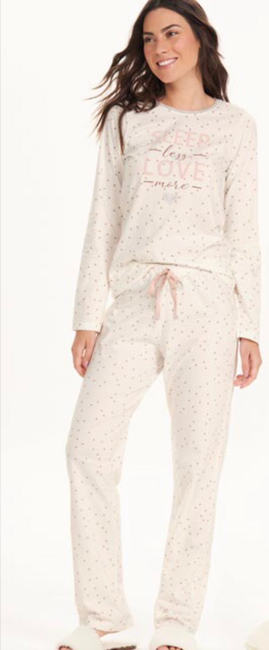 pijama manga longa rot poa