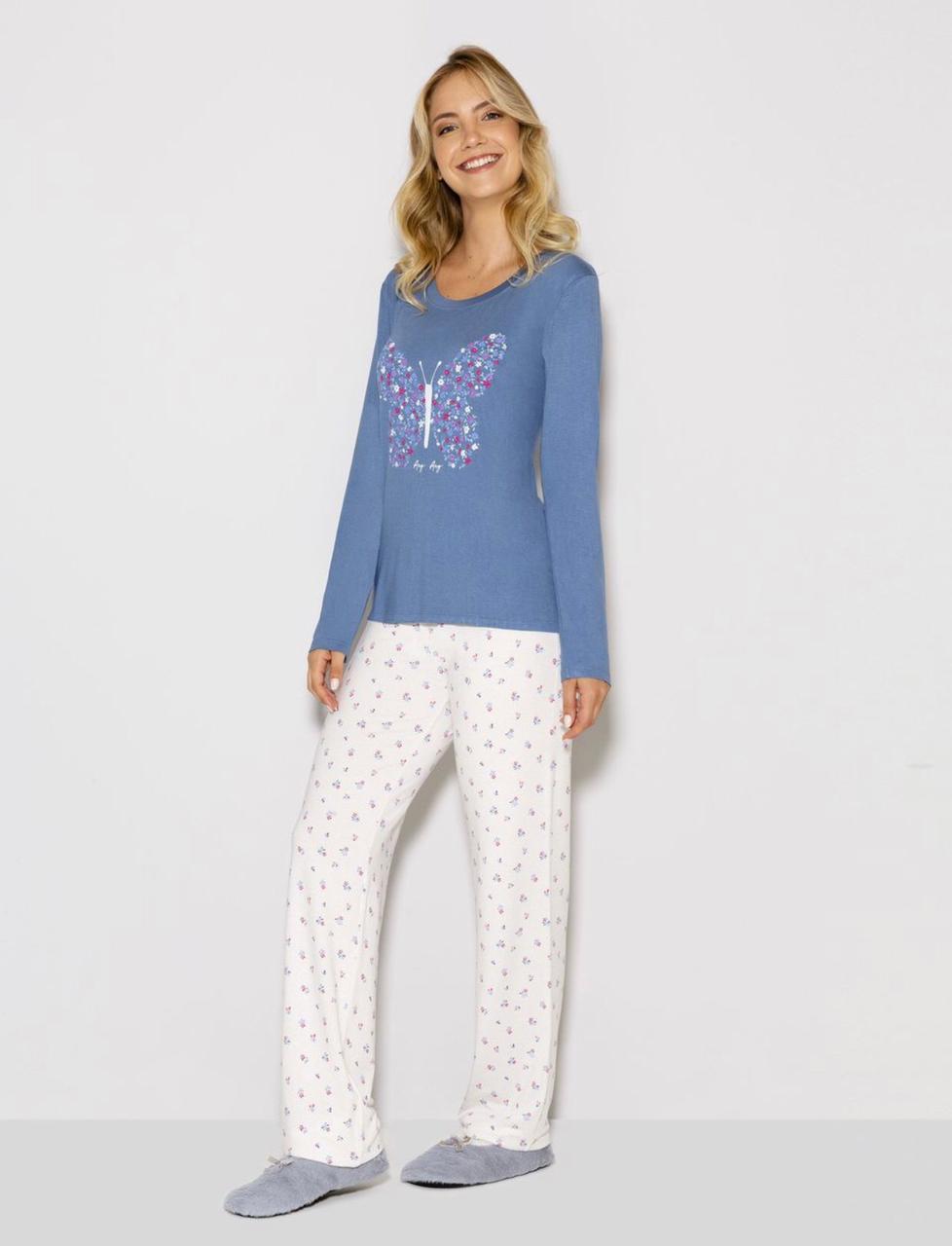 pijama manga longa t butterfly
