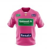 Camisa Oficial Infantil Bicampeão - Patch comemorativo - Personalizável - Outubro Rosa 2021