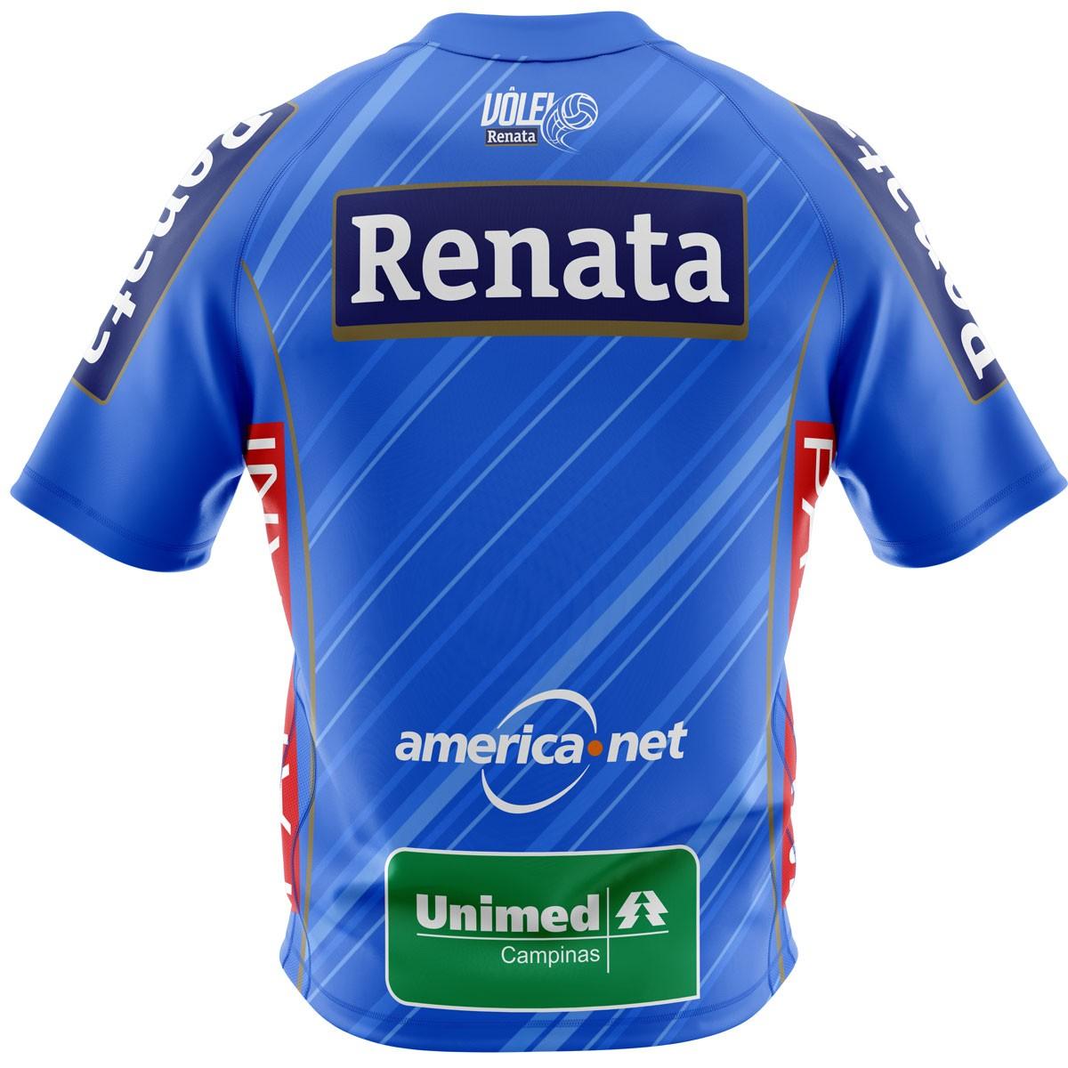 Camisa Oficial Azul Vôlei Renata - Masculina - Personalizável