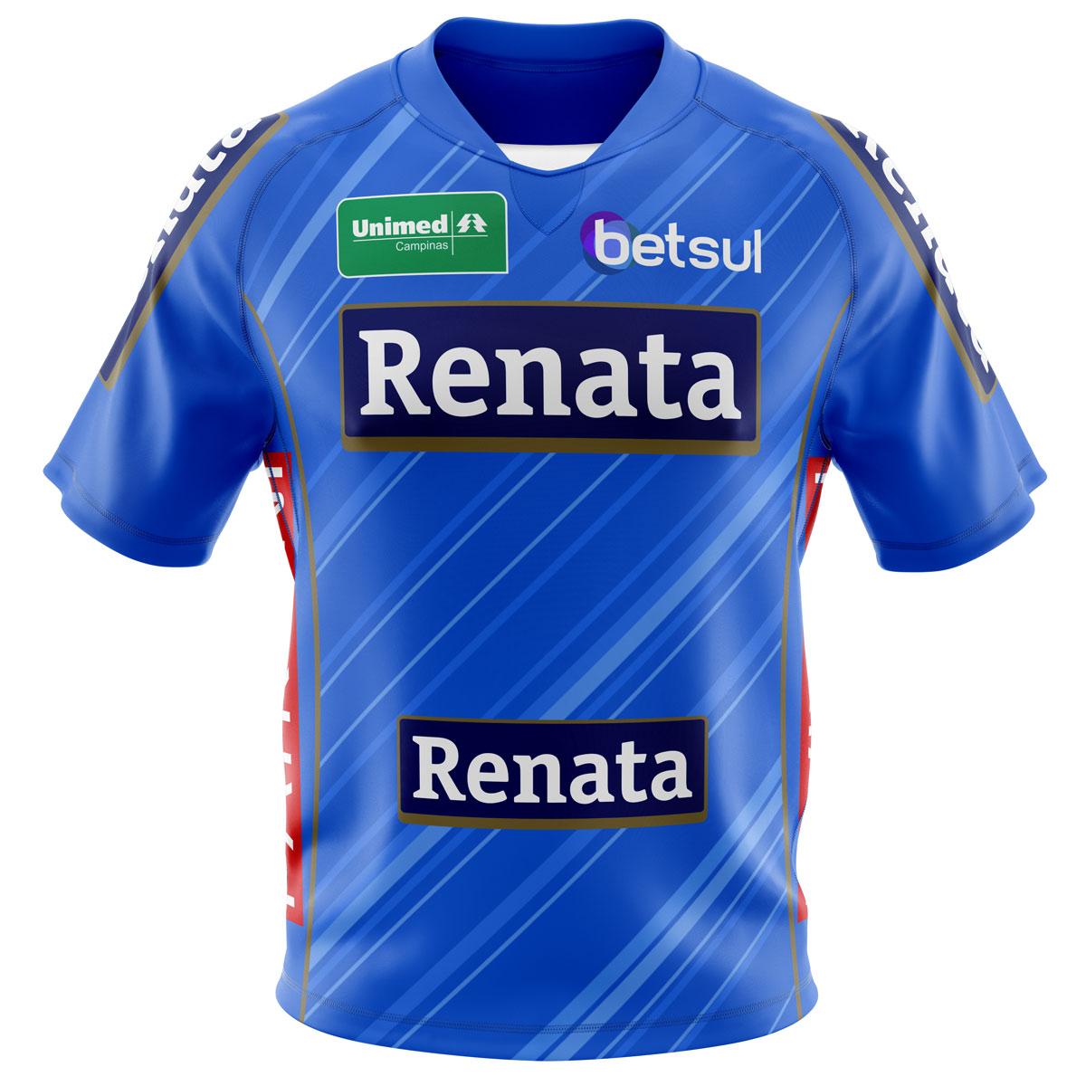 Camisa Oficial Azul Vôlei Renata - Infantil - Não Personalizável