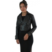 Jaqueta De Couro Bovino Legítimo Curta Perfecto Feminina 219
