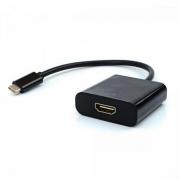 Adaptador de Vídeo USB Tipo C X HDMI ADP-303BK Preto PLUSCABE