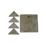 Adesivo Texturizado P/ Cajon 9,25 Pol Quadrado Fiberskyn Texture Target  Hk-8501-00 Remo