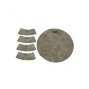 Adesivo Texturizado P/ Cajon 9,75 Pol Redondo Fiberskyn Texture Target Hk-8500-00 Remo