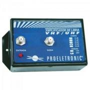 Amplificador de Linha VHF/UHF 25dB Bivolt PQAL-2500 PROELETRONIC