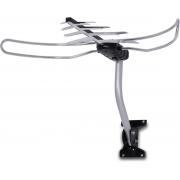 ANTENA TV DIGITAL EXTERNA  4 EM 1 VHF/UHF/FM/HDTV DTV-3000, COMPLETA, COM MASTRO E CABOS 16 METROS