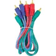 CABO DE VÍDEO COMPONENTE (RGB) 2 METROS VC-2