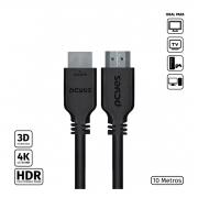 CABO HDMI 2.0 4K 30AWG PURO COBRE 10 METROS - PHM20-10
