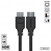 CABO HDMI 2.0 4K 30AWG PURO COBRE 2 METROS - PHM20-2