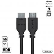 CABO HDMI ULTRA 2.1 28AWG PURO COBRE 10K 2 METROS - PHM21-2