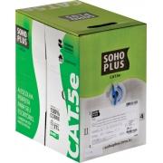 CABO LAN U/UTP CAT.5E 24 AWG 4 PARES CMX 305M AZUL 100% COBRE