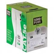 CABO LAN U/UTP CAT.5E 24 AWG 4 PARES CMX 305M CINZA 100% COBRE