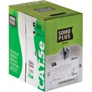 CABO LAN U/UTP CAT.5E 24 AWG 4 PARES CMX 305M PRETO 100% COBRE