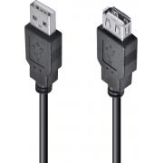 CABO USB A MACHO X USB A FÊMEA 2.0 - 3M EXTENSOR - UAMAF-3 - PC / 10