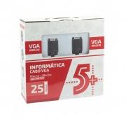 CABO VGA X VGA 25M C/ FILTRO PIX 018-7725