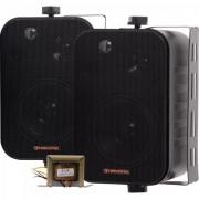 Caixa Acústica com Trafo Embutido de 70V(25W) Ambience Line MSB406 Preta HAYONIK - PAR / 2