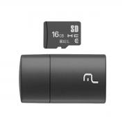 CARTÃO MICRO SD 16GB COM LEITOR USB CLASSE 4 MC162
