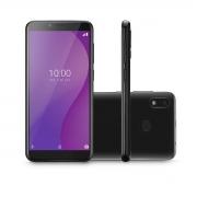 """CELULAR SMARTPHONE MULTI G 4G 32GB TELA 5.5"""" OCTA CORE SENSOR DE DIGITAIS P9132 PRETO"""