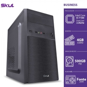 COMPUTADOR BUSINESS B300 - I3 7100 3.9GHZ MEM 4GB DDR3 HD 500GB HDMI/VGA FONTE 200W