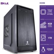 COMPUTADOR HOME H100 - CELERON DUAL CORE J1800 2.41GHZ 4GB DDR3 SODIMM HD 1TB HDMI/VGA FONTE 200W