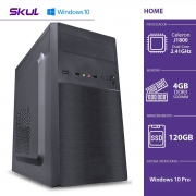COMPUTADOR HOME H100 - CELERON DUAL CORE J1800 2.41GHZ 4GB DDR3 SODIMM SSD 120GB HDMI/VGA FONTE 200W WINDOWS 10 PRO