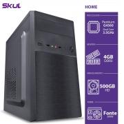 COMPUTADOR HOME H200 - PENTIUM DUAL CORE G4560 3.5GHZ MEM 4GB DDR3 HD 500GB HDMI/VGA FONTE 200W