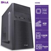 COMPUTADOR HOME H200 - PENTIUM DUAL CORE G5400 3.7GHZ MEM 4GB DDR4 SSD 120GB HDMI/VGA FONTE 200W