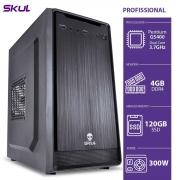 COMPUTADOR PROFISSIONAL P100 - PENTIUM DUAL CORE G5400 3.7GHZ 4GB DDR4 SSD 120GB FONTE 300W