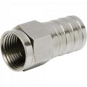 Conector F Tipo Barril Para Crimpar RG59 CONF0006 Níquel STORM - PCT / 100