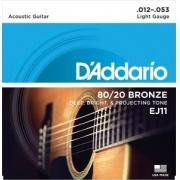CORDA DADDARIO VIOLAO AÇO EJ11 012/053 BRONZE 80/20