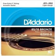 CORDA DADDARIO VIOLAO AÇO EZ910-B+PL011