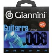 ENCORDOAMENTO PARA GUITARRA ELÉTRICA GEEGST 8 - .008-.038
