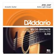 ENCORDOAMENTO PARA VIOLÃO AÇO EJ10-B 80/20 BRONZE