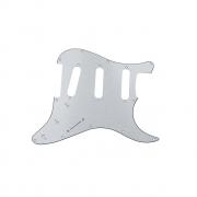Escudo Guitarra Strato Sss Paisley Sparkle Branco 3 Camadas Dolphin