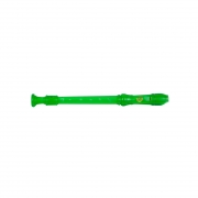 Flauta Doce Germanica Soprano Do Verde Transparente Dolphin