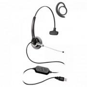 Fone Headset c/ Gancho Auricular Stile Top Due Compact Preto FELITRON