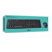 KIT MOUSE E TECLADO SEM FIO USB PRETO MK270 LOGITECH (024128)