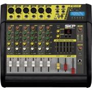 MESA DE SOM AMPLIFICADA 6 CANAIS 400W COM MP3, ENTRADA USB , COM EFEITOS VZ-60A II