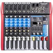 MESA DE SOM SOUNDVOICE 6 CANAIS EF/EQ MS602 EUX COM EFEITO