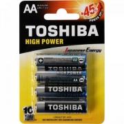 Pilha Alcalina AA 1,5V LR6GCP TOSHIBA (Cartela com 4 Unid.) - CXF / 12