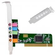 PLACA DE SOM PCI 5.1 CANAIS LOW PROFILE - PS51-PCI