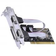 PLACA SERIAL COM 2 SAÍDAS RS232 RS485 RS422 + 1 SAÍDA PARALELA IEEE1284 PCI X1 - P2IE1PR-PCI