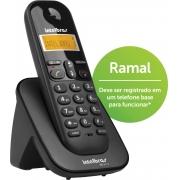 RAMAL SEM FIO DIGITAL COM IDENTIFICADOR DE CHAMADAS TS 3111 PRETO