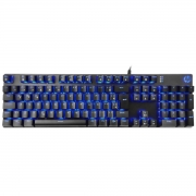 TECLADO GAMER USB MECANICO  SWITCH BLUE GK400F LED AZUL CHUMBO