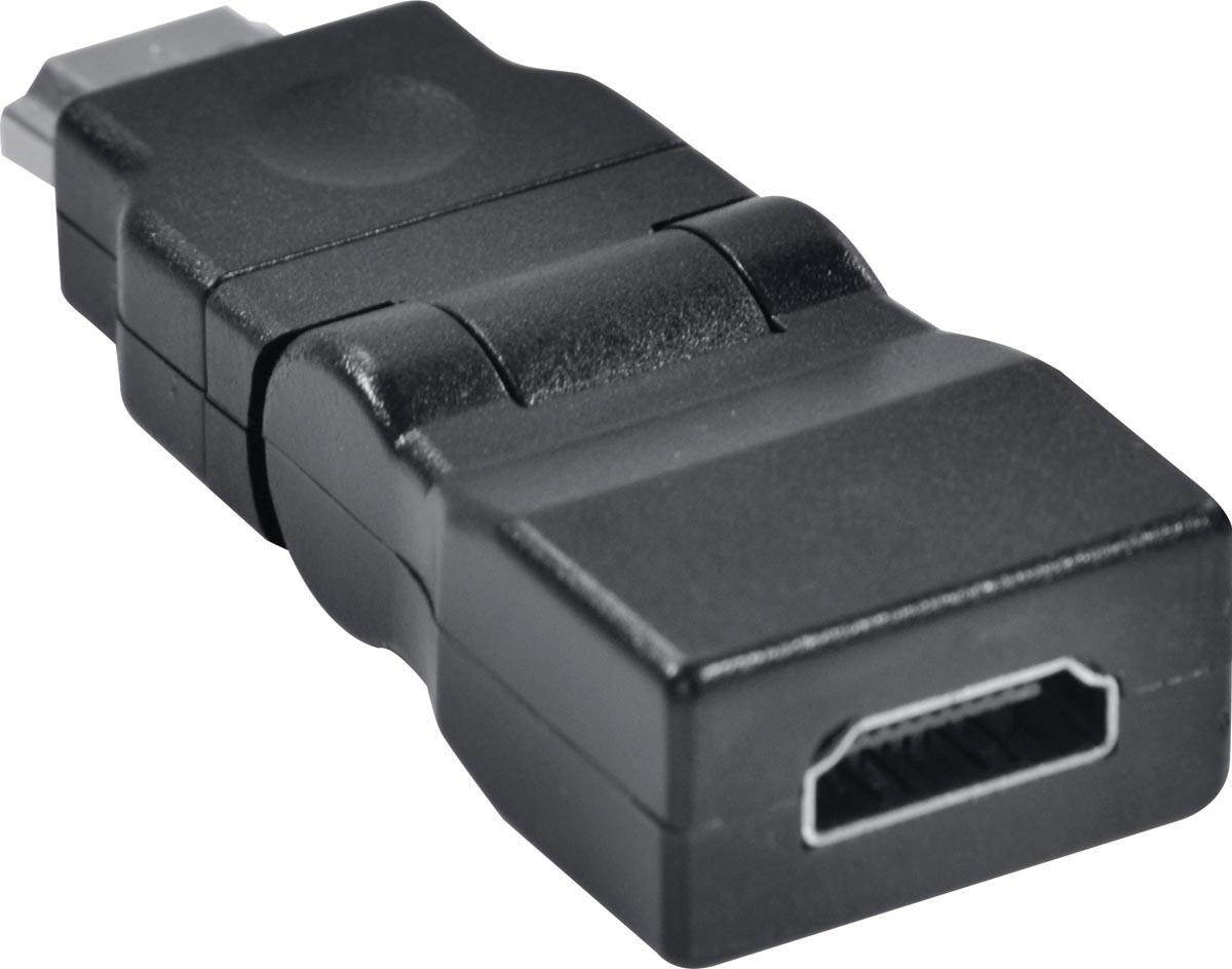 ADAPTADOR HDMI FEMEA X HDMI MACHO 360º  AHHF-A360 - PC / 5