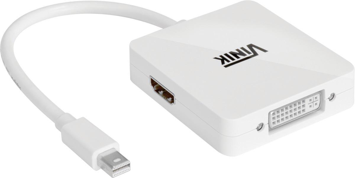 ADAPTADOR MINI DISPLAYPORT X DVI/HDMI/DISPLAYPORT  3 EM 1 - MDP-3IN
